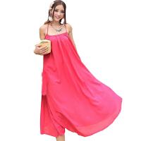 慈颜夏款 孕妇装连衣裙 无袖 雪纺大码 沙滩长裙 孕妇裙 MLFS01
