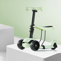 男女宝宝可坐闪光溜溜车踏板车两用三轮儿童滑板车