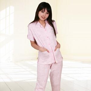 金丰田夏时尚家居服 女士针织可爱卡通短袖睡衣套装1533