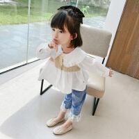 女童秋装套装春秋季儿童女宝宝洋气时髦小童两件套潮