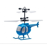 遥控飞机感应飞行器充电会飞电动悬浮直升飞机男女孩儿童玩具礼物 感应小飞侠--蓝色 精英版【加速遥控器+USB充电线】