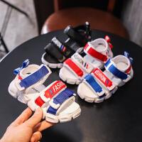儿童鞋子男孩小孩沙滩鞋2019新款中大童韩版软底鞋男童凉鞋
