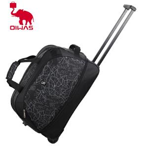 爱华仕 地图纹拉杆袋 拉杆箱男 大容量旅行箱拉杆包 女旅行袋 8019