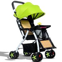 夏季竹藤可坐可躺竹藤椅超轻便携折叠简易宝宝小孩儿童四轮手推车zf10