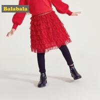 【2.26超品 3折价:59.7】巴拉巴拉童装女童裤子加绒春季2019新款小童宝宝长裤儿童蕾丝裙裤