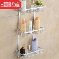 2019新品新品浴室置物架挂篮太空铝洗漱用品卫生间收纳墙上壁挂单双层厨卫挂件