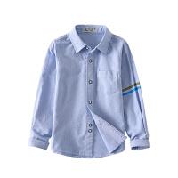 2019春装新款中小童上衣儿童休闲衬衣男童棉白衬衫长袖