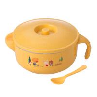 保温碗小孩吃饭碗婴儿辅食碗宝宝餐具不锈钢碗儿童注水防摔带盖勺yw wk-168
