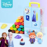 迪士尼24色橡皮泥太空彩泥模具套�b超�p粘土手工�黏土男女孩玩具