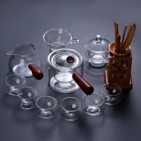 【新品�豳u】日式玻璃茶具套�b家用煮茶透明功夫茶杯子加厚��s�F代耐�崤莶��
