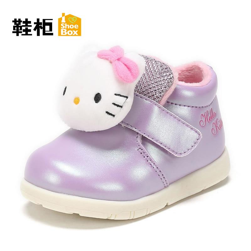 鞋柜童鞋 秋冬可爱幼儿学步鞋舒适童靴