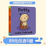 Potty 上厕所 英文原版 leslie patricelli 小毛孩系列 一根毛 幼儿行为习惯培养绘本 time