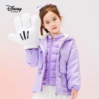 【春新品4折�A估�r:233.6元】迪士尼女童一手�L羽�q服�杉�套2020秋冬新款�和������r尚洋外套