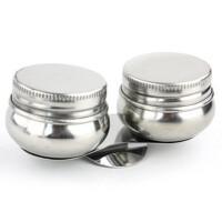 不锈钢带夹油画油壶 调色油壶 调色器皿 双只油壶 绘画油壶