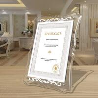 实木相框A4荣誉证书相框奖状照片框架亚克力8寸10寸相框摆抬代理授权牌