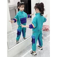 2019新款儿童卫衣加绒加厚童装女童洋气秋冬装套装