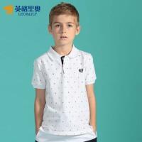 英格里奥童装男童夏装海洋风印花T恤polo衫LLB9405