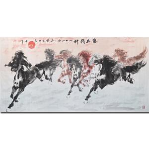 江苏画马名家――龙马精神68*138