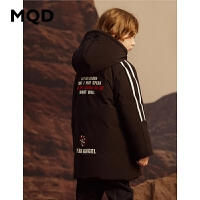 MQD童装男童羽绒服2019冬装新款儿童运动百搭上衣保暖百搭外套潮