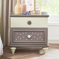 全实木床头柜房间卧室家具床边小柜子北欧风格 床头柜 组装