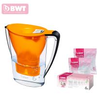 德国BWT倍世厨房家用净水壶直饮便携户外净水壶过滤净水器净水杯2.7升 阻垢款 一壶九滤芯 紫色 蓝色 橙色 白色 绿