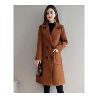 毛呢大衣女中长款韩版秋冬外套修身显瘦大码加厚呢子女式上衣