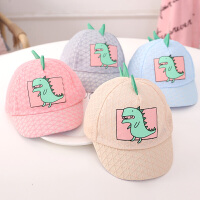 婴儿太阳帽女童可爱网眼帽子儿童鸭舌帽夏季薄款男宝宝遮阳帽
