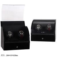 机械表摇表器自动上链盒手表上弦盒摆表器转表盒电动手表盒 黑+内黑皮