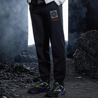 【券后预估价:112】三体联名|361度运动裤男20年冬季新款针织长裤裤子宽松收口休闲裤