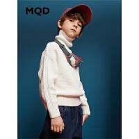 MQD童装2019冬新款毛衣针织衫儿童毛衣加厚高领洋气