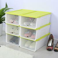 滑盖鞋盒 透明鞋盒加厚抽屉式鞋子收纳盒塑料鞋整理箱滑盖鞋盒子组盒鞋柜F