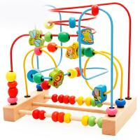 大号儿童绕珠串珠婴儿益智力玩具10-11个月宝宝积木0-1-2岁3周岁