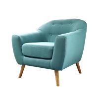 【旗舰精品】北欧布艺多人办公沙发茶几组合套装办公室商务休闲创意沙发 三人 灰蓝