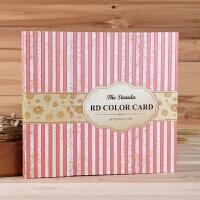美甲色板120色卡本打板指甲油胶颜色展示册板样板卡镶嵌式甲片盒