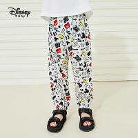 迪士尼男童长裤奇趣梭织宽松长裤儿童宝宝防蚊裤