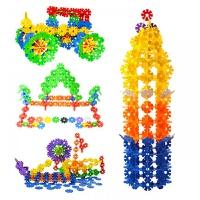 雪花片积木塑料拼插1-2女宝幼儿园3-6周岁7拼装男孩儿童玩具
