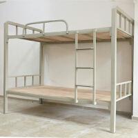 【优选】员工宿舍上下铺铁床学生双层高低床1米新铁艺床铁架床钢架床 1000mm*2000mm 1.2米以下