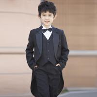 秋冬季花童礼服男主持人钢琴演出表演服儿童燕尾服男童礼服套装