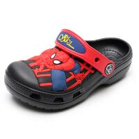 限时特价3D卡通冰雪奇缘蜘蛛侠贴片儿童洞洞鞋男童沙滩鞋女童中大童拖鞋软