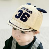 夏季儿童帽子男童太阳帽女童鸭舌帽网凉帽宝宝帽子婴儿帽子遮阳帽