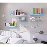 木板一字隔板墙上隔板架机顶盒搁板衣柜层板长方形墙壁置物架