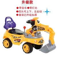 升级加大可坐可骑 新款儿童挖掘机 四轮工程车仿真挖机 小孩滑行车