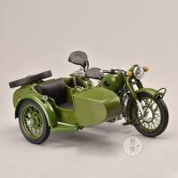 原厂 1:10 长江750三轮跨子绿 三轮挎斗摩托车模型 合金车模摆件