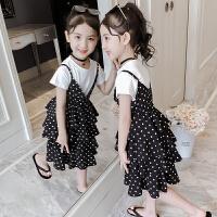 2019夏季新款女孩童装裙子洋气公主裙儿童时髦两件套女童夏装套装