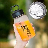 公司礼品定制送客户女学生韩版可爱玻璃杯抖音网红水杯夏天便携个性创意潮流水瓶