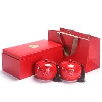 黑枸杞包装罐陶瓷茶叶罐礼盒包装红茶绿茶茶罐黑枸杞礼盒定制高端茶叶礼盒logo