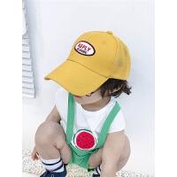 男女童棒球帽韩版宝宝透气太阳帽子潮夏季儿童网格遮阳帽鸭舌帽