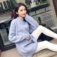 孕妇毛衣女秋冬季韩版长袖中长款宽松针织衫打底孕妇装秋装上衣 均码