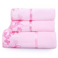 新品毛巾套装2毛巾+1浴巾三件套情侣洗脸柔软吸水面巾可搭配礼盒