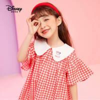 【3折券后价:64.5元】迪士尼童装女童短袖连衣裙2021夏季新款儿童宝宝公主裙时髦洋气